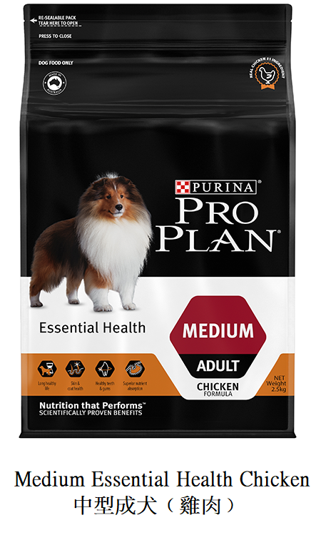 Medium Essential Health Chicken 中型成犬﹙雞肉﹚